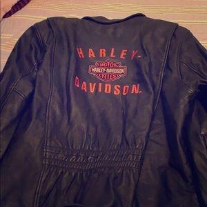 Unisex real leather Harley Davidson jacket